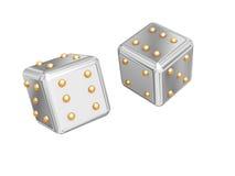 De kubussen van spelen. Stock Afbeeldingen
