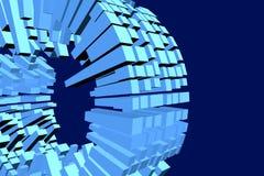 De kubussenachtergrond 1 van de cilinder Royalty-vrije Stock Afbeeldingen