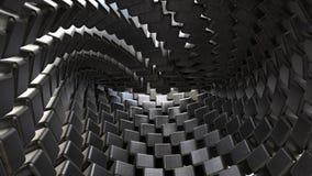 De kubussenachtergrond van het metaal Stock Afbeelding