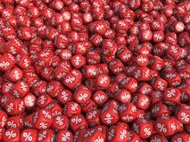 De kubussenachtergrond van kortingspercenten Royalty-vrije Stock Foto