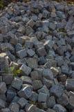 De kubussensamenvatting van de steenweg in portret Stock Foto