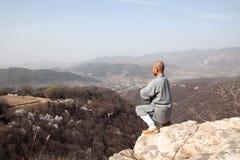 De kungfu van de monnikspraktijk royalty-vrije stock afbeelding