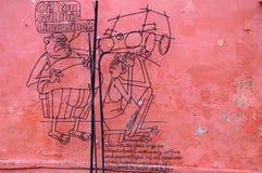 """De Kunst """"Limousine† van de Penangstraat Royalty-vrije Stock Afbeeldingen"""