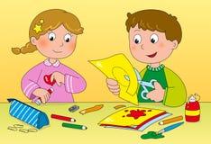 De kunst en de creativiteit van kinderen Royalty-vrije Stock Fotografie