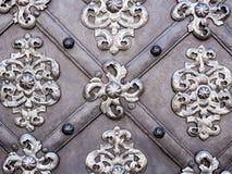 De kunst en het patroon van het snijden van tafelzilver, Metaalornament stock afbeeldingen