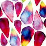 De kunst naadloos patroon van waterverfdalingen Stock Afbeelding