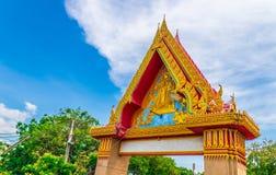 De kunst ontwerpt de ingang aan de tempel royalty-vrije stock afbeeldingen