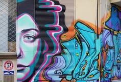 De kunst van de graffitistraat in Athene, Griekenland Royalty-vrije Stock Fotografie