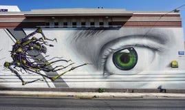 De kunst van de graffitistraat in Athene, Griekenland Royalty-vrije Stock Foto