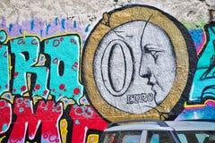 De kunst van de graffitistraat in Athene, Griekenland Stock Fotografie
