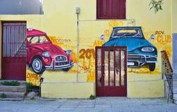 De kunst van de graffitistraat in Athene, Griekenland Royalty-vrije Stock Afbeelding