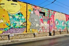 De kunst van de graffitistraat in Athene, Griekenland Royalty-vrije Stock Afbeeldingen