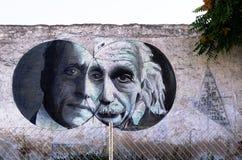 De kunst van de graffitistraat in Athene, Griekenland Royalty-vrije Stock Foto's