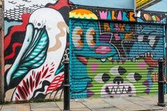 De kunst van de graffitistraat in Londen Stock Fotografie