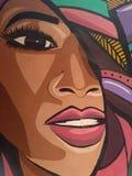 De kunst van de graffitistraat op muur van faculteit van kunstonderwijs Kaïro royalty-vrije stock fotografie