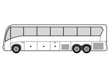 De kunst van de lijn - bus Stock Foto's