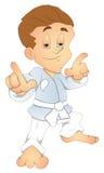 Karate Kid - de VectorIllustratie van het Karakter van het Beeldverhaal royalty-vrije illustratie