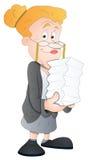 De Vrouw van het bureau - het Karakter van het Beeldverhaal - VectorIllustratie vector illustratie