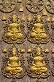 De kunst van het boeddhisme op de muur Royalty-vrije Stock Foto