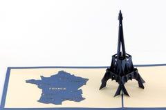 De kunst van het document van Lareis Eiffel Stock Foto