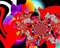 De kunst van het Grafikontwerp Abstract kleurrijk het schilderen Beelden nieuw art. stock afbeeldingen