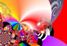 De kunst van het Grafikontwerp Abstract kleurrijk het schilderen Beelden nieuw art. Royalty-vrije Stock Afbeeldingen