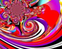 De kunst van het Grafikontwerp Abstract kleurrijk het schilderen Beelden nieuw art. Royalty-vrije Stock Foto