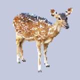 De kunst van het hertenpixel, geïsoleerd vierkant dier, vector Stock Afbeeldingen