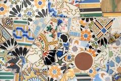 De kunst van het mozaïek in Barcelona Spanje Stock Afbeelding