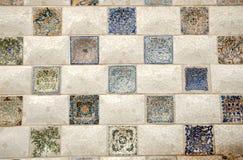 De kunst van het mozaïek in Barcelona Spanje stock afbeeldingen