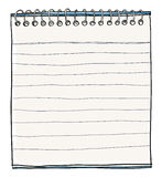 De kunst van het notaboek het leuke schilderen Stock Fotografie