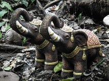 De kunst van het standbeeldontwerp van olifantenlevensstijl Royalty-vrije Stock Fotografie
