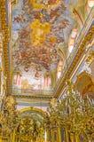 De kunst van kerk binnenlands ontwerp Stock Foto