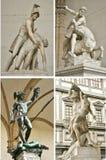 De kunst van Lanzi van loggiadei in de stad van Florence, Italië royalty-vrije stock fotografie