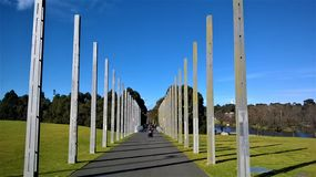 De Kunst van Melbourne Australië in het Park stock afbeelding
