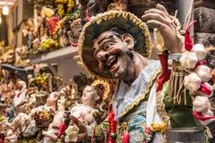 De kunst van Napolitaanse geboorte van Christus van S Gregorio Armeno Stock Foto's