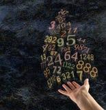 De Kunst van Numerology stock foto's