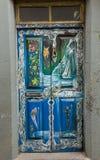 De kunst van open deur in de straat van Santa Maria Een project dat aan ` open ` de stad aan artistieke en culturele gebeurteniss Royalty-vrije Stock Afbeelding