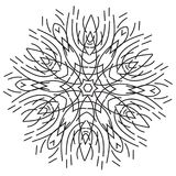 De kunst van de strepenlijn met mandalapatroon Royalty-vrije Stock Foto's