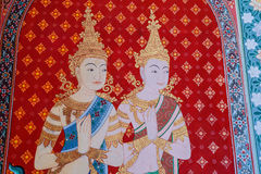 De kunst van Thaise architectuur in Tempel Stock Fotografie
