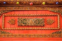 De kunst van Thaise architectuur Wat Chom Sawan, de Koninklijke Tempel, Royalty-vrije Stock Fotografie