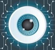De kunst vectorachtergrond van de oogappeltechnologie Stock Fotografie