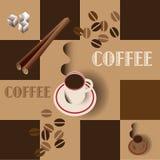 De kunstaffiche van de koffie vector illustratie