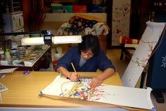 De kunstenaar van de kimono Stock Fotografie
