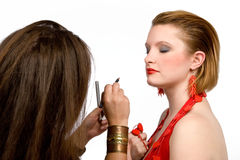 De kunstenaar van de make-up Stock Foto's