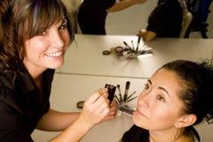 De kunstenaar van de make-up Stock Foto