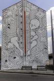 De kunstenaar van de Millostraat aan het werk in Avellino Stock Afbeeldingen