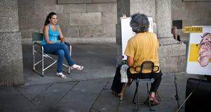 De kunstenaar van de straat Stock Afbeelding