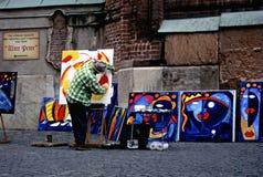 De kunstenaar van de straat in München Stock Foto's
