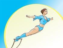 De Kunstenaar van de trapeze Stock Afbeelding